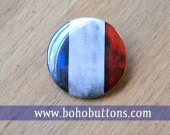 France Flag 1.25'' Pinback Button, French Tricolor, French Flag, France Flag Keychain, I love Paris, Pray for Paris, Bohemian magnet, Travel
