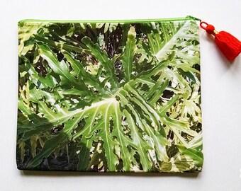 Tropical Summer Clutch with Tassel