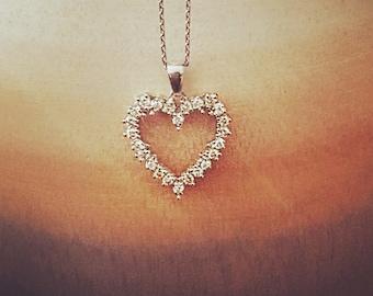 Ray Of Sun! Diamond Heart Pendant