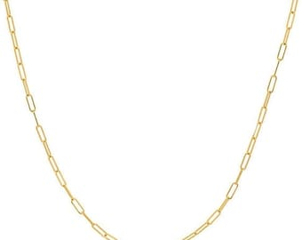 MOTHERS DAY SALE 14k gold box chain necklace