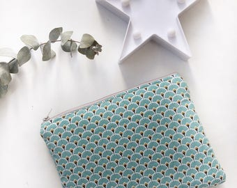 Cover padded Tablet fan gold and turquoise