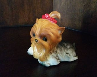 Silky or Yorkshire Terrier Figurine by Norcrest