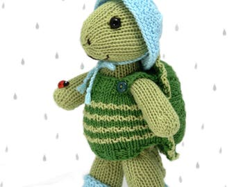 Rainy Day Turtle Knitting Pattern