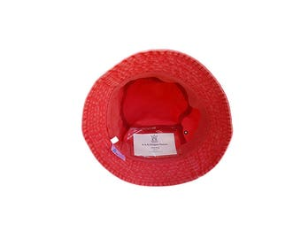 Faded Red Bucket Hat with Pockets