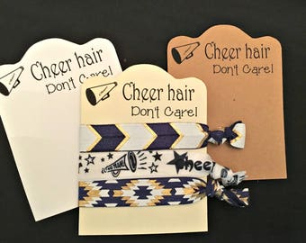Cheer Hair Tie Elastic Cheer Hair Don't Care Cheer leading Squad