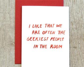 Geekiest People Watercolor Greeting Card by Little Truths Studio