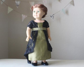 "Downton Abbey Inspired Silk Evening Gown for 18"" American Girl Dolls"