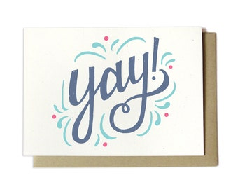 Yay! Congratulations Greeting Card - Congrats Card - Celebration Card