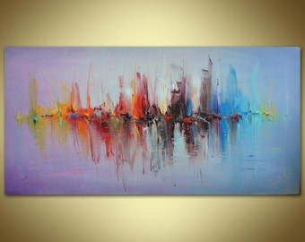 Oil Painting Abstract Canvas Painting Large Abstract Art Original Artwork Oil Painting Abstract Modern Art Large Wall Art Kitchen Wall Art