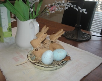 Prim Bowl & Fillers for Your SPRING Decor!~ Hand Painted!