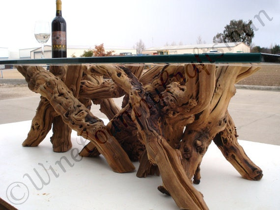 Marvelous Old Vine Grapevine Coffee Table Made From Reclaimed Napa