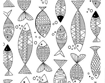 Small Fish Adult Coloring