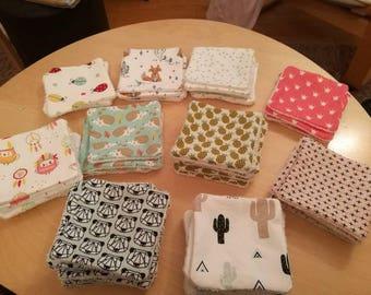 12 Lingettes lavables