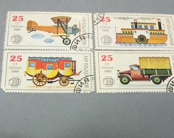 Vintage Bulgarian postage stamps, USSR, Bulgaria, set of 4 stamps USSR postage stamps collectible
