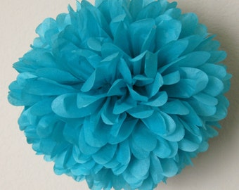 Bright turquoise - one pom