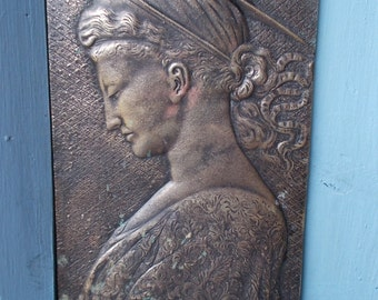Desiderio Da Settignano Saint Helena Bronze Bas Relief Plaque