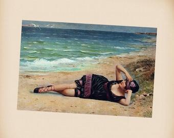 Bathing Beauty New 4x6 Vintage Postcard Image Photo Print RA10