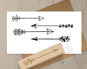 Hand Drawn Arrow Stamp, Arrow Rubber Stamp, Archery Stamp, Cupid Arrow, Pattern Stamp, Stamp Set, Doodle Stamp, Journal Stamp 080