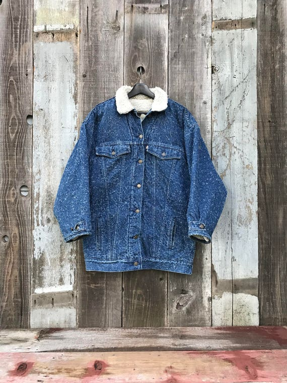 Womens Denim Gorgeous Vintage Levi's Sherpa Denim Unisex Insulated Mens Rare Sherpa Levis Denim Jacket Jacket Jacket Levis Jacket Y45qdP