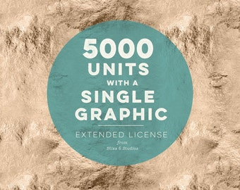 Extended Commercial License for 5000 Units from a Single Graphic