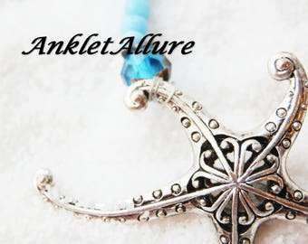 Anklet Starfish Anklet Beach Ankle Bracelet Blue Anklet GUARANTEED Anklet for Women Ankle Jewelry