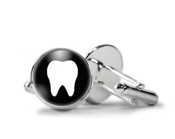 Tooth Cufflinks Dentist Cufflinks Dental Cufflinks PM-526