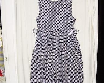Vintage 90s Vera Bradley Jumper Dress L Royal Brown Indiana Label