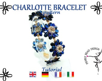 CHARLOTTE bracelet pattern tutorial with PIP beads