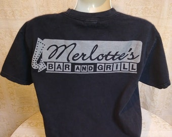 Vintage HBO True Blood MERLOTTE'S Bar & Grill T-shirt Boho books Original LARGE
