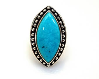 Sterling Silver Marquise Turquoise Ring