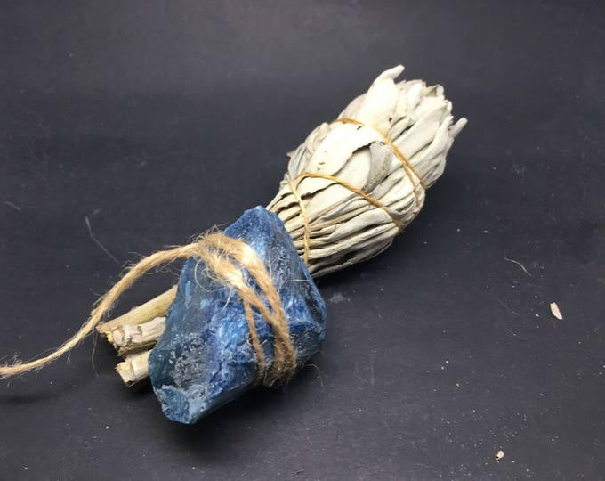 Smudge Kit California White Sage & Agate (blue) - WSAB01