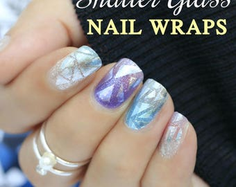Shattered Glass Nail Wraps