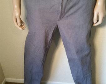 Organic cotton Pants 34 X 32 men's hand dyed Hermans Eco