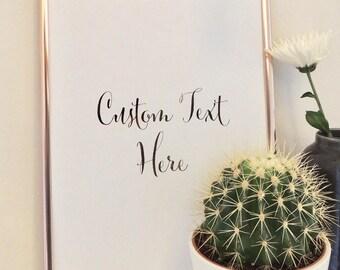 Foil Art Print 'Custom Text/Personalise'