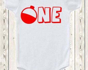 First Birthday Fishing Shirt or Onesie ® Brand Bodysuit Fishing Birthday shirt First birthday shirt  Second Birthday  Fishing theme bobber