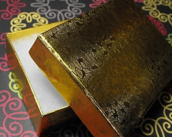 TAX SEASON Stock up 20 Pack Gold Foil Color Cotton Filled 3.25 X 2.25 X 1 Inch Size Retail Jewelry Gift Presentation Boxes