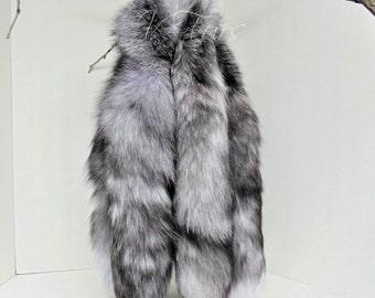 Blue Frost Fox Tail Keychain
