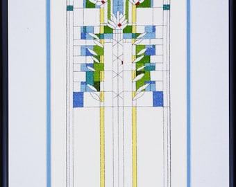 Frank Lloyd Wright Waterlilies Cross Stitch Kit