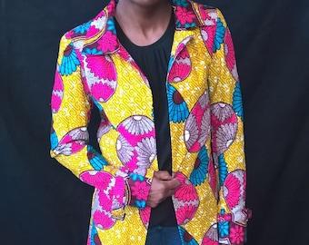 Spring African Ankara Jacket, African Jackets, African Clothing, Ankara Jacket, African Blazer, African Jacket.