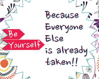 Notebook Cover | Be Yourself because everyone else is already taken