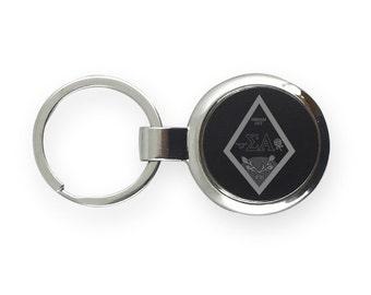 Sigma Alpha Lasered Greek Crest Key Chain