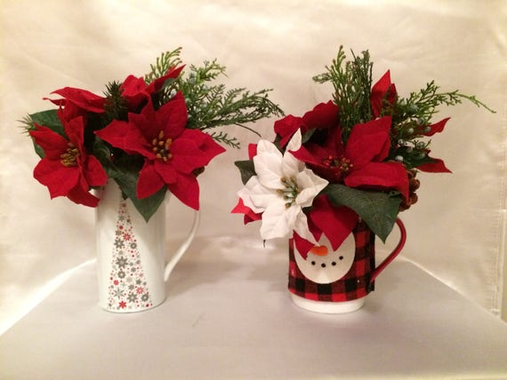 Poinsettia flowers arrangement christmas