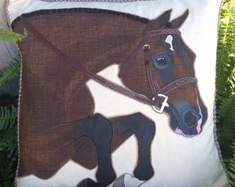 The Hunter Horse Pillow: Custom Equestrian Home Decor