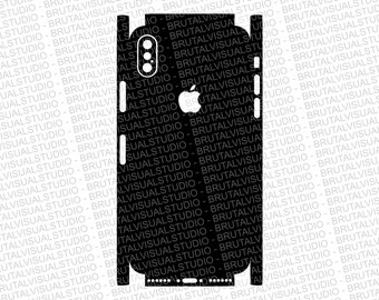 Iphone 10 X - Skin Cut Template  - Templates for cutting or machining - Digital Download - Plotter, CNC, Laser Cutter - SVG - Full Wrap