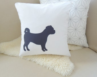 Puggle Pillow Cover - Custom Colors