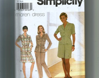 Simplicity Misses' Top, Pants, Shorts and Belt Pattern 7598