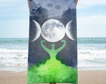 Wiccan Moon Goddess and Mother Earth Towel