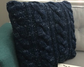 Cable Knit Pillow Cover - Large Cables
