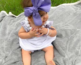 LILAC; headwrap; fabric headband; purple headwrap; headwraps; newborn headband; baby bow; toddler headband; newborn bow, hair bow, big bow,