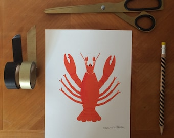 Lobster A5 Limited edition signed print